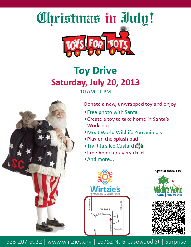 Toys For Tots Flyers 2012 : Christmas in july flyer